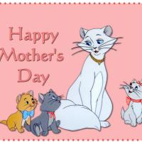 Printable Cat and Kitten Postcard - Printable Mothers Day Cards - Free Printable Cards