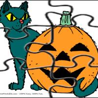 Printable Cat And Pumpkin Jigsaw Puzzle - Printable Puzzles - Free Printable Games