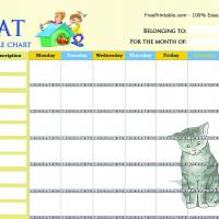 Cat Chore Chart