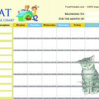 Cat Chore Chart