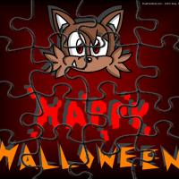 Printable Cat Halloween Puzzle - Printable Puzzles - Free Printable Games