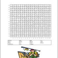 Printable Cattle Field Word Search - Printable Word Search - Free Printable Games