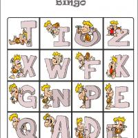 Caveman Alphabet Bingo Card 5