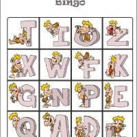 Caveman Alphabet Bingo Card 5