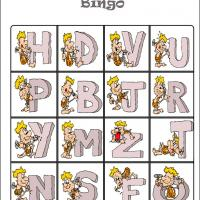 Caveman Alphabet Bingo Card 6