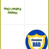 Printable Champion Dad - Printable Fathers Day Cards - Free Printable Cards