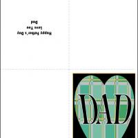 Printable Checkered Heart - Printable Fathers Day Cards - Free Printable Cards