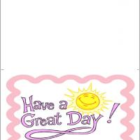 Printable Cheery Sun Have A Great Day - Printable Greeting Cards - Free Printable Cards