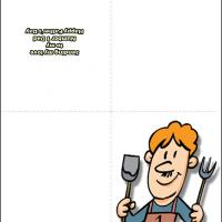 Printable Chef Dad - Printable Fathers Day Cards - Free Printable Cards