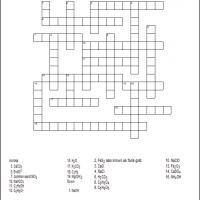 Chemical Formula Crossword