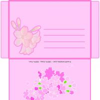 Printable Cherry Blossoms Envelope - Printable Card Maker - Free Printable Cards
