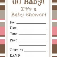 Printable Chestnut and Chocolate Bordered Baby Invitation - Baby Shower and Christening Invitations Cards - Free Printable Invitations