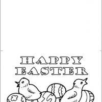 Printable Chick And Eggs For Easter Card - Printable Easter Cards - Free Printable Cards