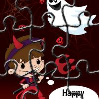 Printable Child In Cute Devil Costume Puzzles - Printable Puzzles - Free Printable Games