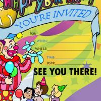 Printable Green Children's Party Invitation - Printable Birthday Invitation Cards - Free Printable Invitations
