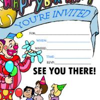 Printable Children's Party Invitation - Printable Birthday Invitation Cards - Free Printable Invitations