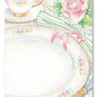 China Dinner Set Blank Card Invitation