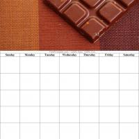Chocolates Blank Calendar