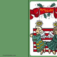 Printable Christmas Angels Card - Printable Christmas Cards - Free Printable Cards