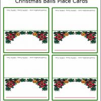 Printable Christmas Ball Place Cards - Printable Place Cards - Free Printable Cards