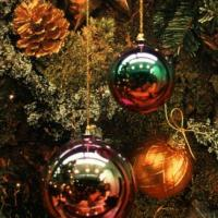 Christmas Balls with Pine Cone