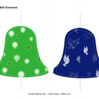 Printable Christmas Bell Ornament - Paper Crafts - Free Printable Crafts