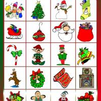 Printable Christmas Bingo Tiles - Printable Bingo - Free Printable Games