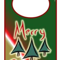 Printable Christmas Door Hanger - Printable Fun - Free Printable Activities