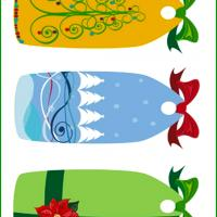 Printable Christmas Gift Tags with Bow Set 2 - Printable Gift Cards - Free Printable Cards
