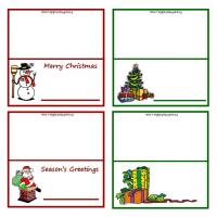 Printable Christmas Gift Tags - Printable Place Cards - Free Printable Cards