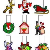 Printable Christmas Mobile - Printable Templates - Free Printable Activities