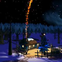 Christmas Night in the Woods