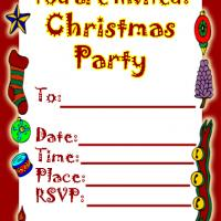 Printable Christmas Party Invitation - Printable Party Invitation Cards - Free Printable Invitations