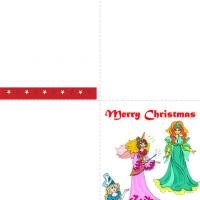 Printable Christmas Princesses - Printable Christmas Cards - Free Printable Cards