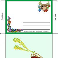 Printable Christmas Reindeer Envelope - Printable Stationary - Free Printable Activities