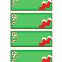 Printable Christmas Socks and Candy Canes - Printable Gift Cards - Free Printable Cards