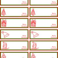 Christmas Stamps Gift Tags