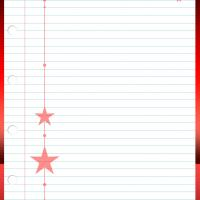 Christmas Stars Stationary