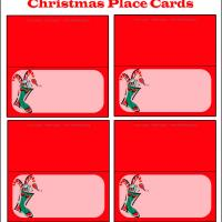 Printable Christmas Stocking Place Cards - Printable Place Cards - Free Printable Cards