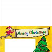 Christmas Thank You Note with Photoframe