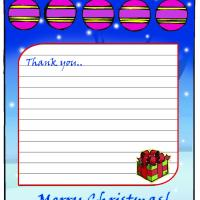 Printable Christmas Thank You Note - Printable Stationary - Free Printable Activities