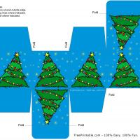 Printable Christmas Tree Blue Box - Printable Templates - Free Printable Activities