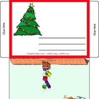Printable Christmas Tree Envelope - Printable Stationary - Free Printable Activities