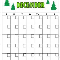 Printable Christmas Tree For December Blank Calendar - Printable Blank Calendars - Free Printable Calendars