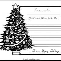 Printable Christmas Tree Guest Book Page - Printable Paper - Misc Printables
