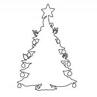 Christmas Tree Stencil