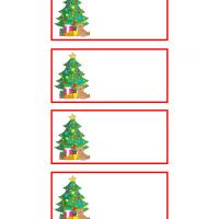 Christmas Tree with Bear Gift Tags