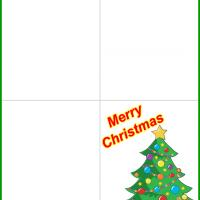 Printable Christmas Tree with Gifts and Teddy Bear - Printable Christmas Cards - Free Printable Cards