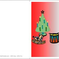 Printable Christmas Tree With Lots Of Stuff Toys - Printable Christmas Cards - Free Printable Cards