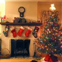 Printable Christmas Tree with Stockings - Printable Photos - Free Printable Pictures